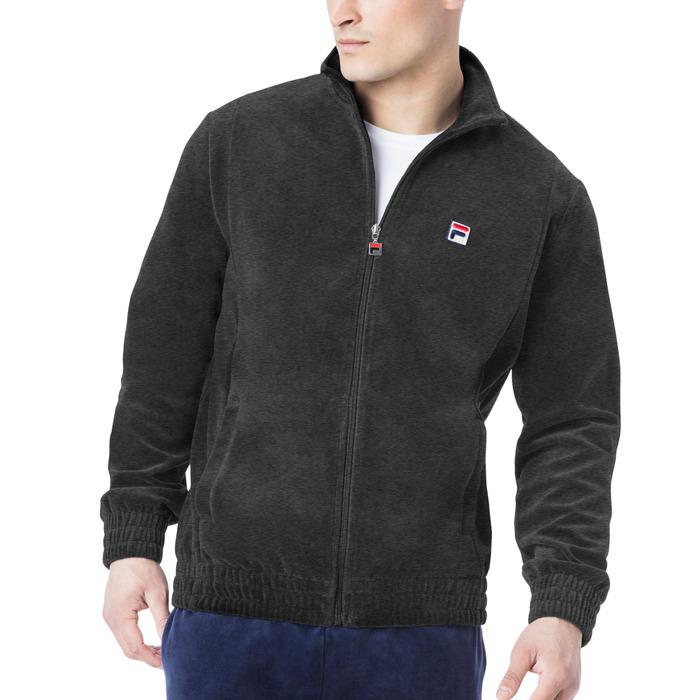 velour jacket in smoke