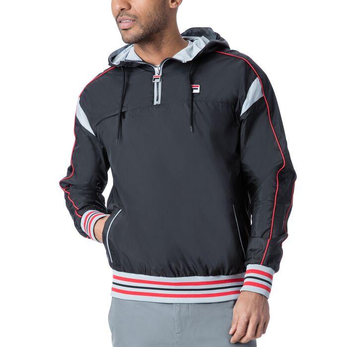mecalle half zip in black