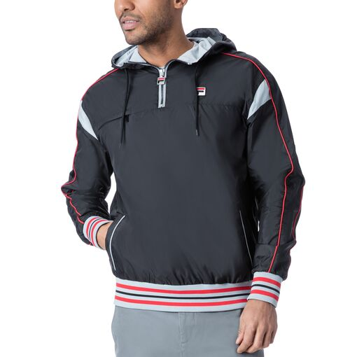 mecalle half zip in black