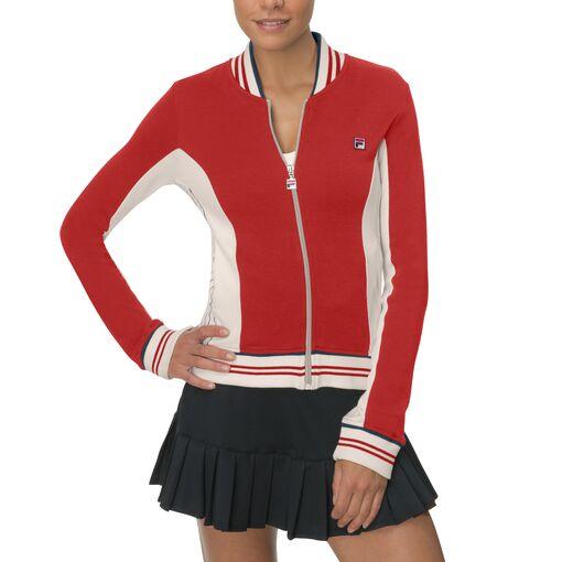 vintage acrylic wool jacket in red