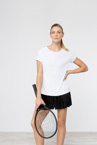 sleek short sleeve top in white
