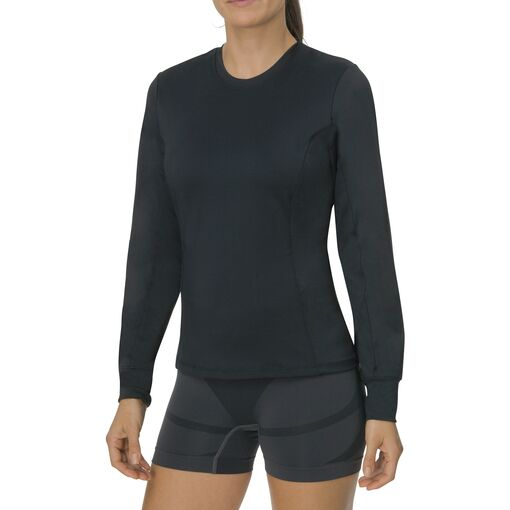essenza long sleeve crew neck in black