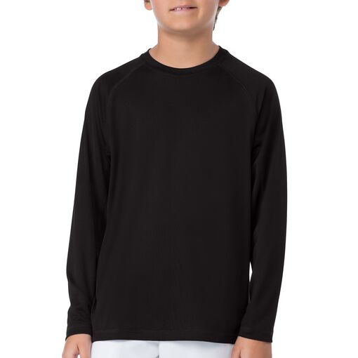 boy's slam long sleeve top in black