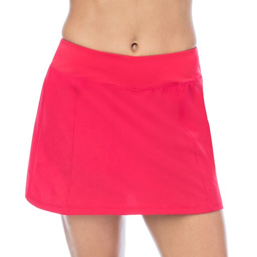 heritage pleated skort in red
