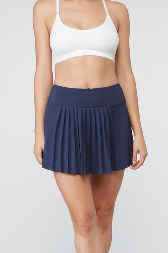 heritage pleated skort in navy