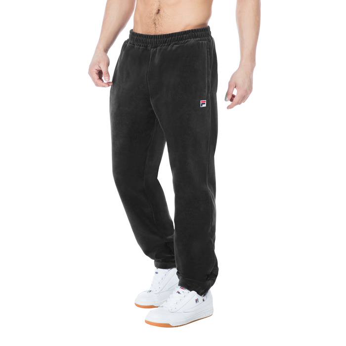 velour pant in black