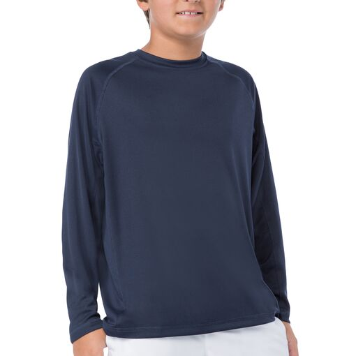 boy's slam long sleeve top in blue