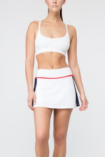 heritage skort in white