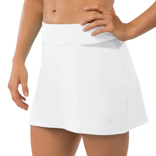 net set pleat back skort in white