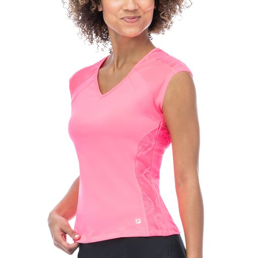 ace short sleeve top in pink
