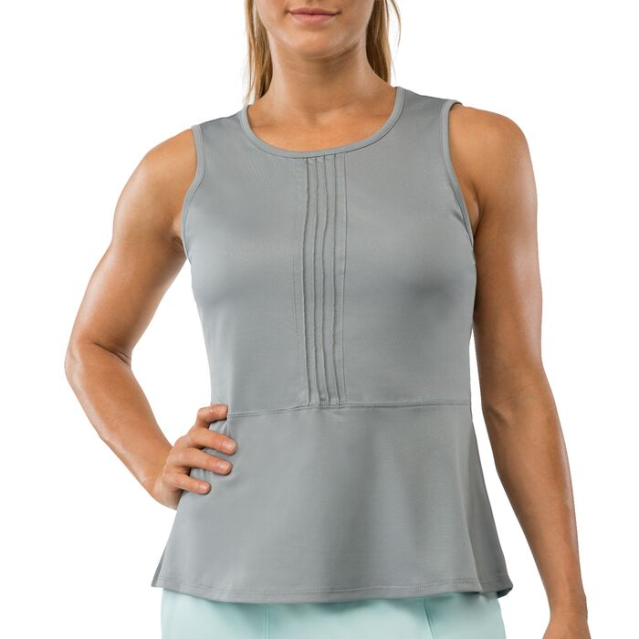 net set peplum top in grey