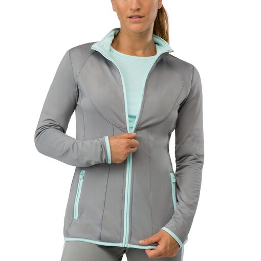 net set jacket in grey