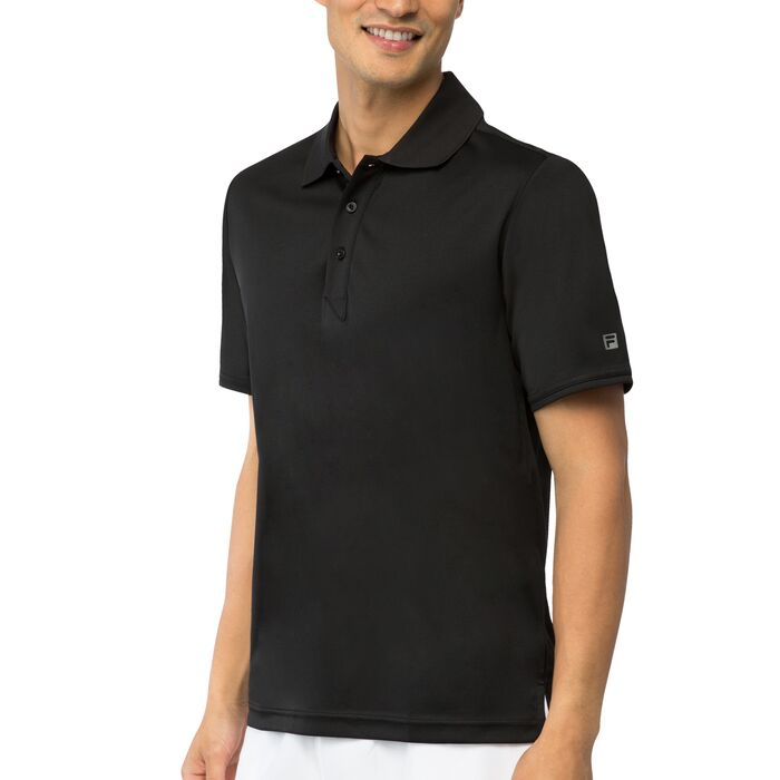 fundamental solid polo in black