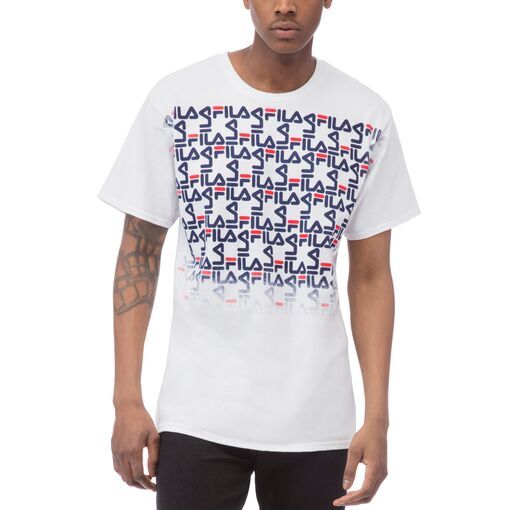 mono faded tee in white
