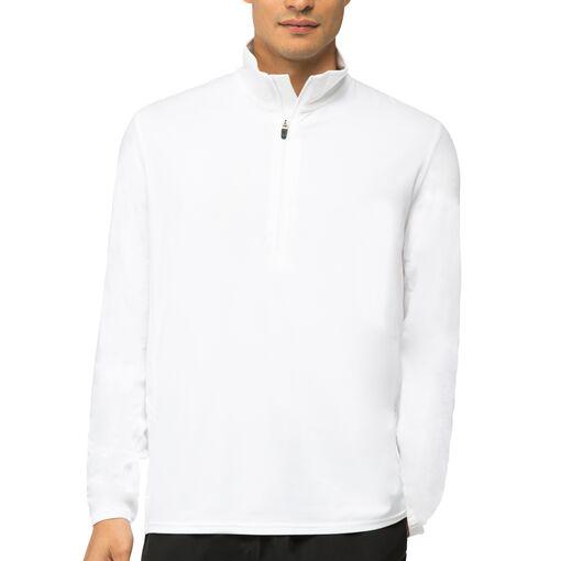 fundamental half zip jacket in white
