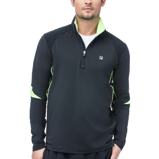 alpha quarter zip top in black