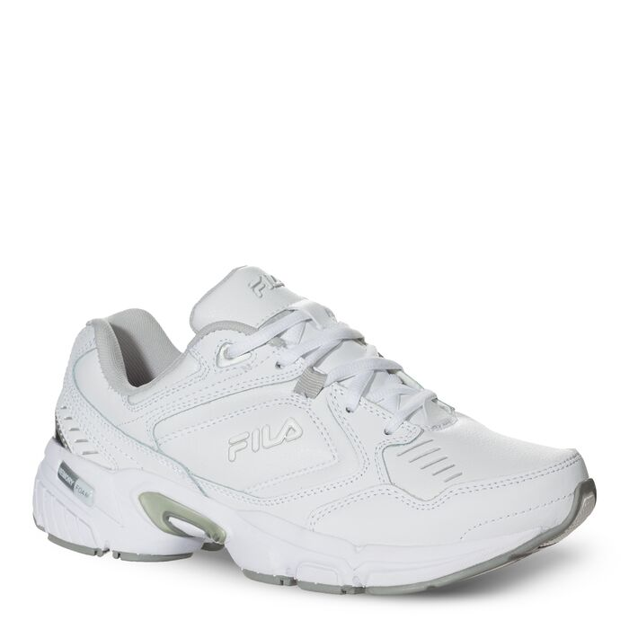 women's memory comfort trainer wide in white
