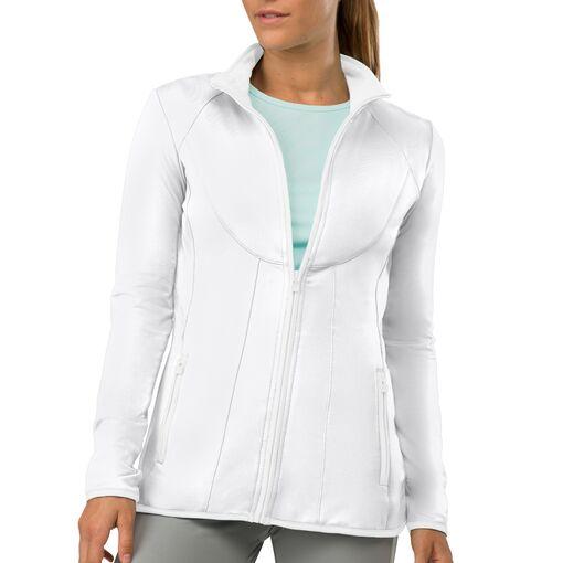 net set jacket in white