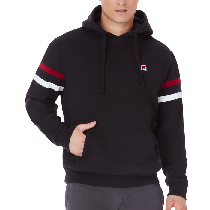 classic fleece hoody in black