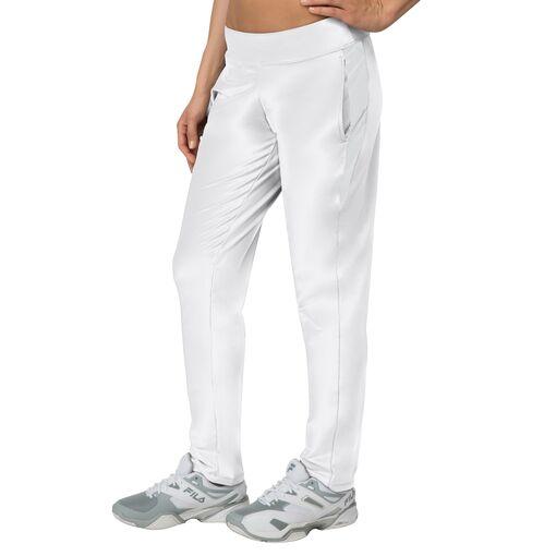 net set pant in white