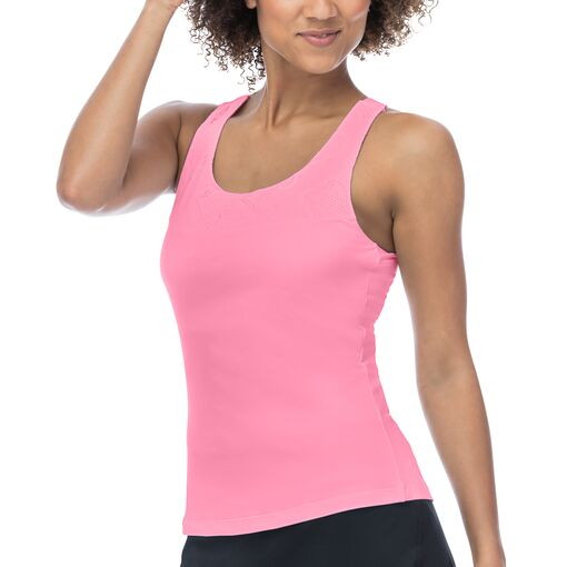 ace criss cross back tank in pink