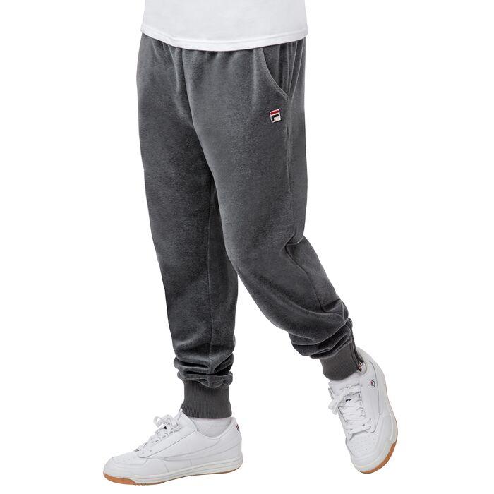 slim velour pants in mink