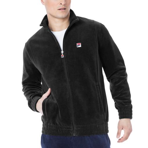 velour jacket in black
