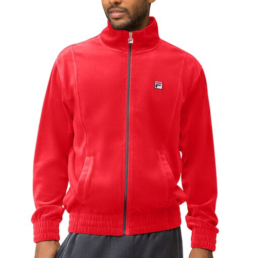 solid velour jacket in chinesered