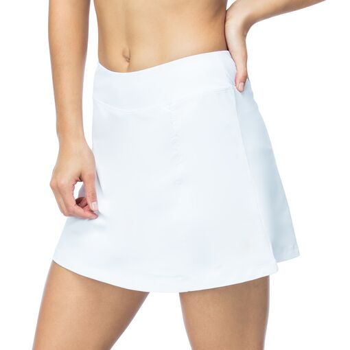 court couture ruched skort in white