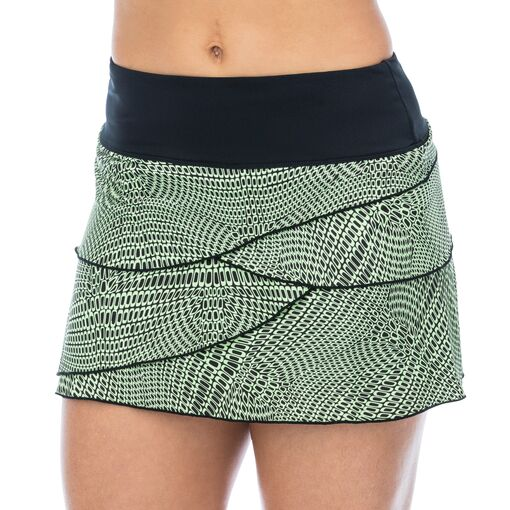 printed tiers skort in black