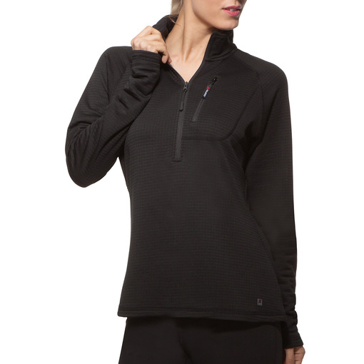 fundamental half zip pullover in black