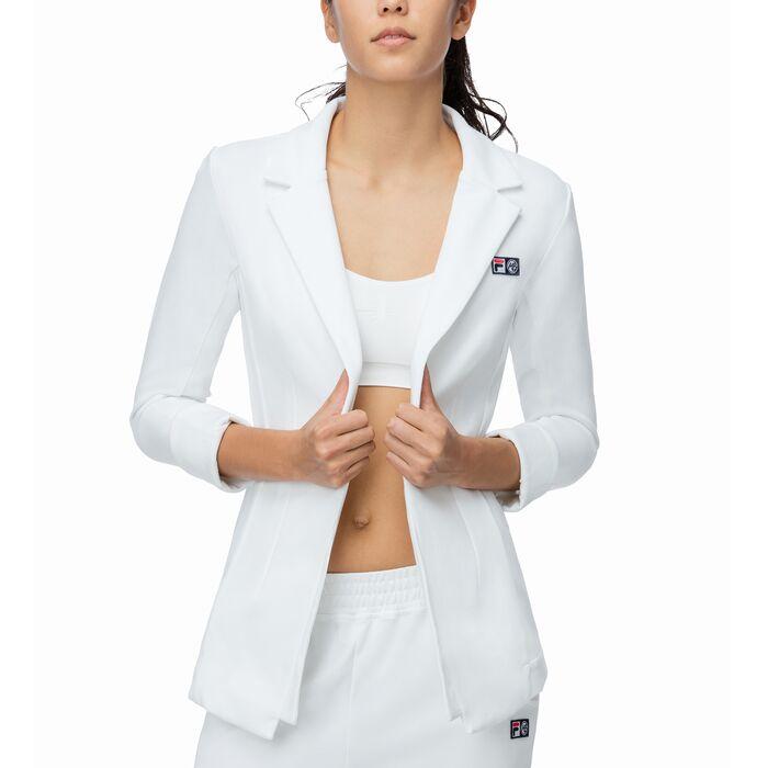 mb blazer in white