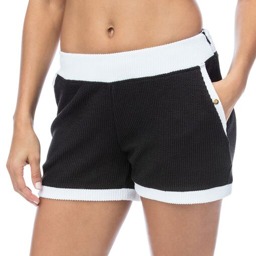 court couture short in black