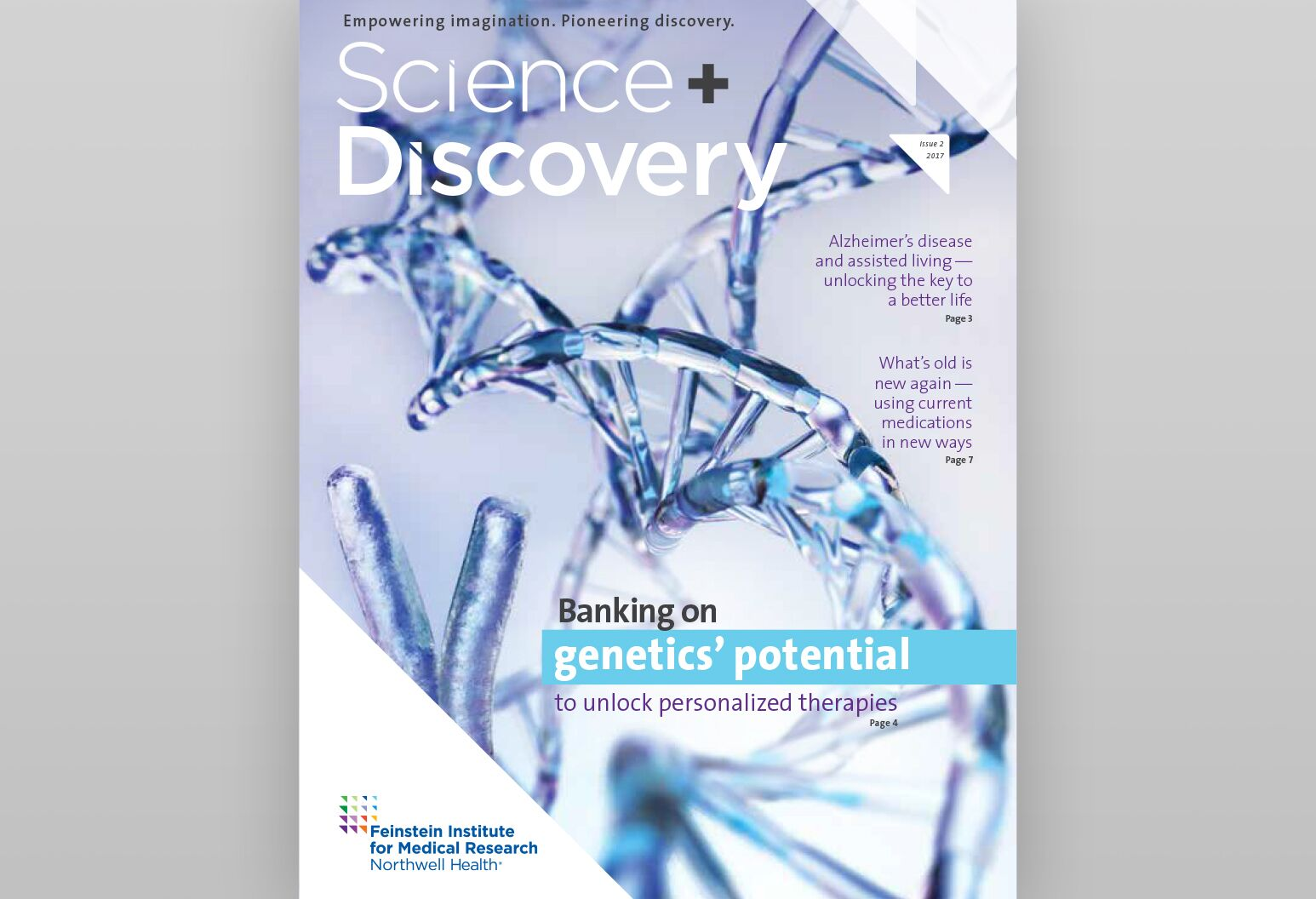Cover of the Summer 2017 Science + Discovery publication.