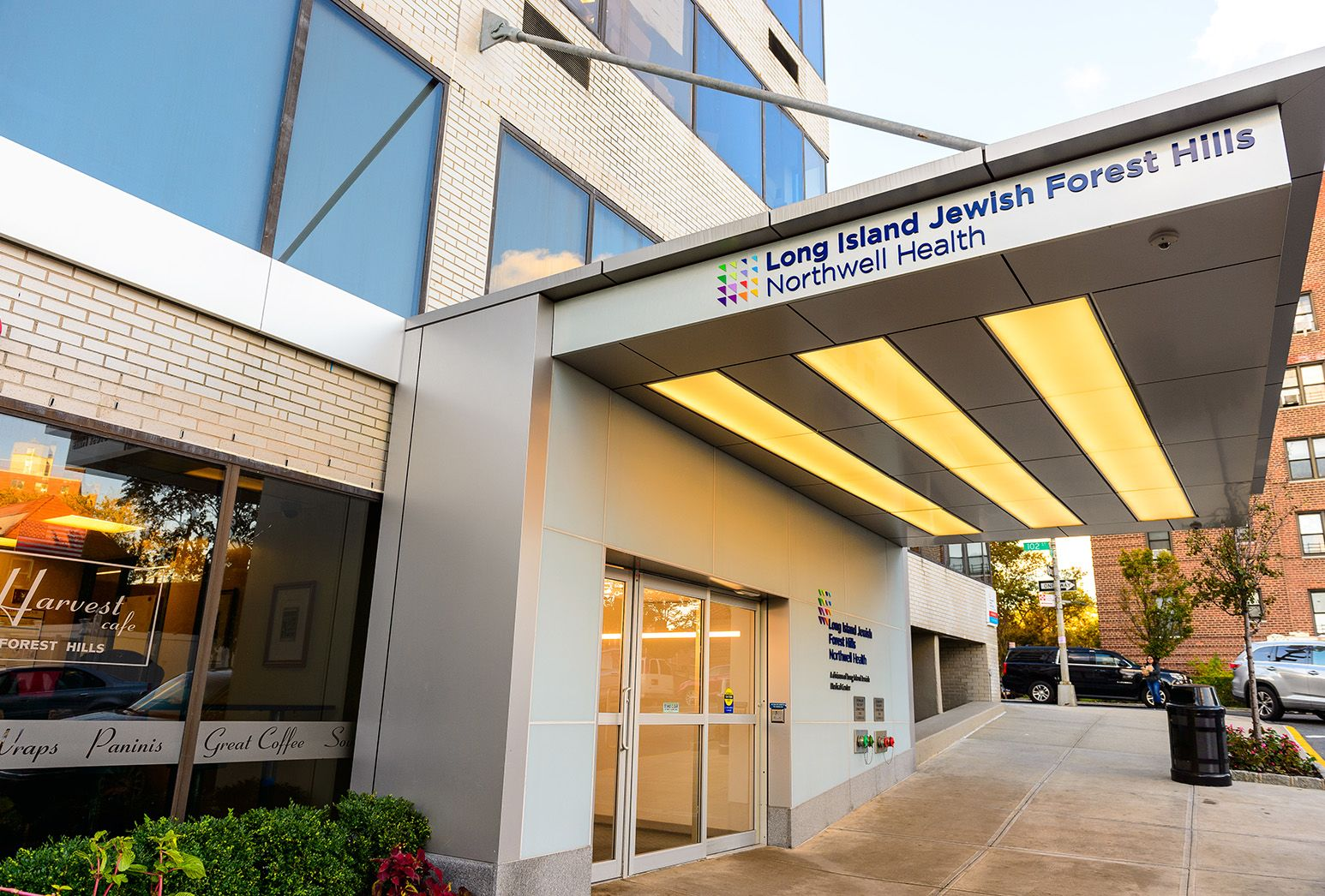 Entrance to Long Island Jewish Forest Hills Hospital