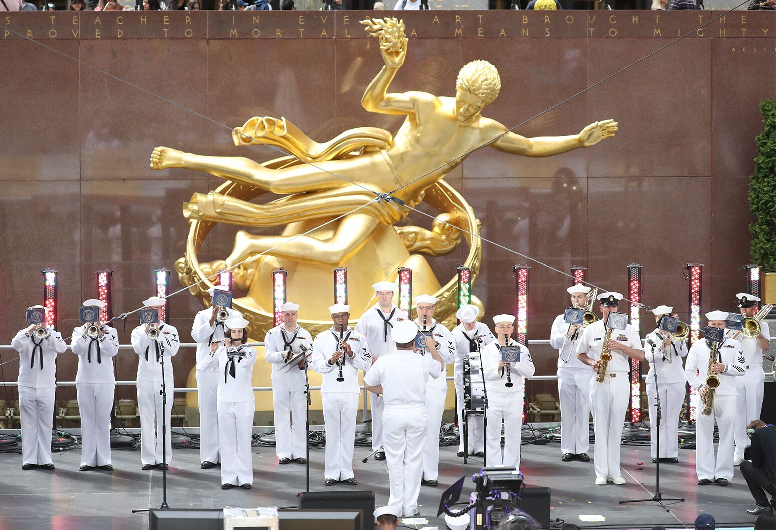 United States Navy Band performing at Side by Side