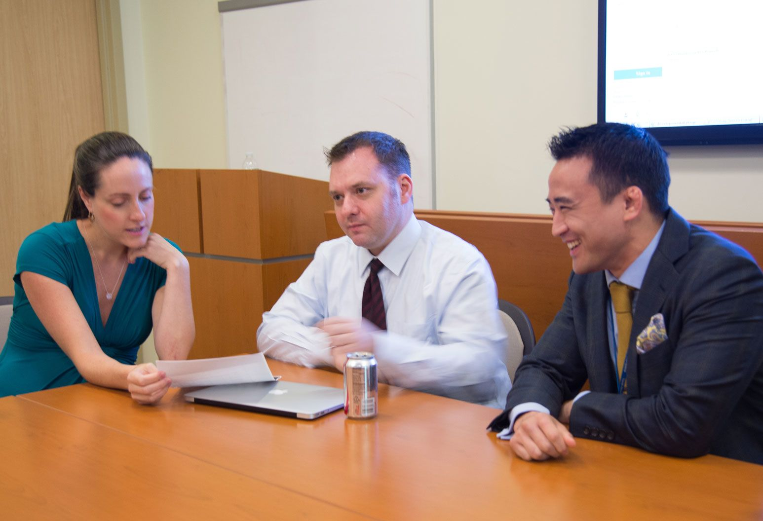 Faculty and residents discussing a pathways project - Adult Psychiatry Residency program at Zucker Hillside Hospital