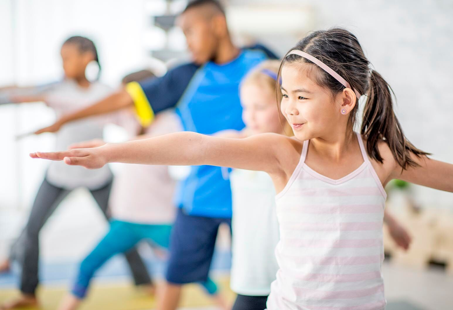 School-aged children exercise