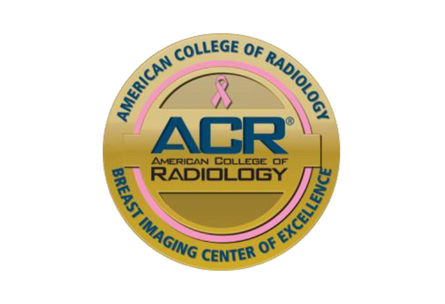 Badge for the American College of Radiology Breast Imaging Centers of Excellence