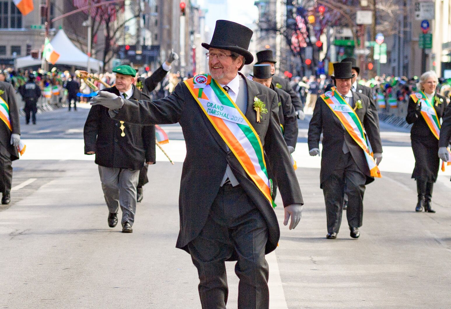 Michael Dowling as Grand Marshal of the 2017 St. Patrick's Day Parade.