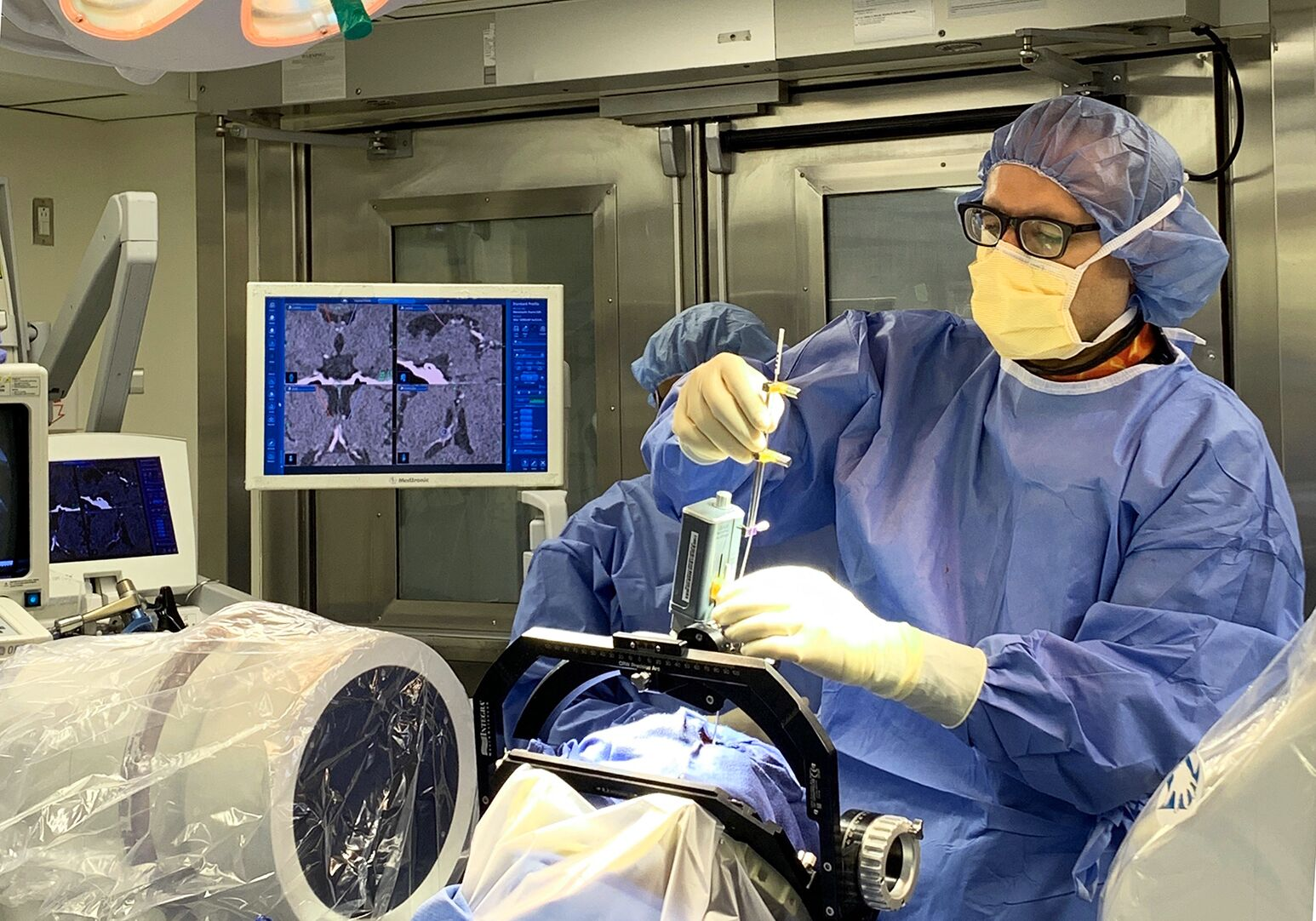 Neurosurgeon Ashesh Mehta, MD, first in New York to treat epilepsy with FDA-approved deep brain stimulation.
