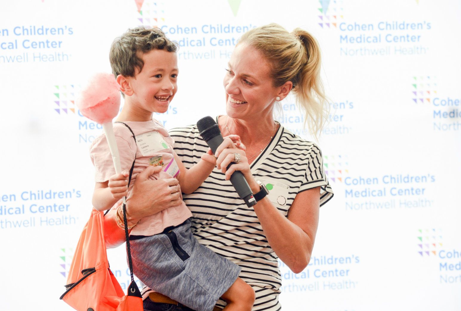 Morgan Saatchi holds her son, Maverick, during the 35th anniversary celebration of Cohen Children's NICU.