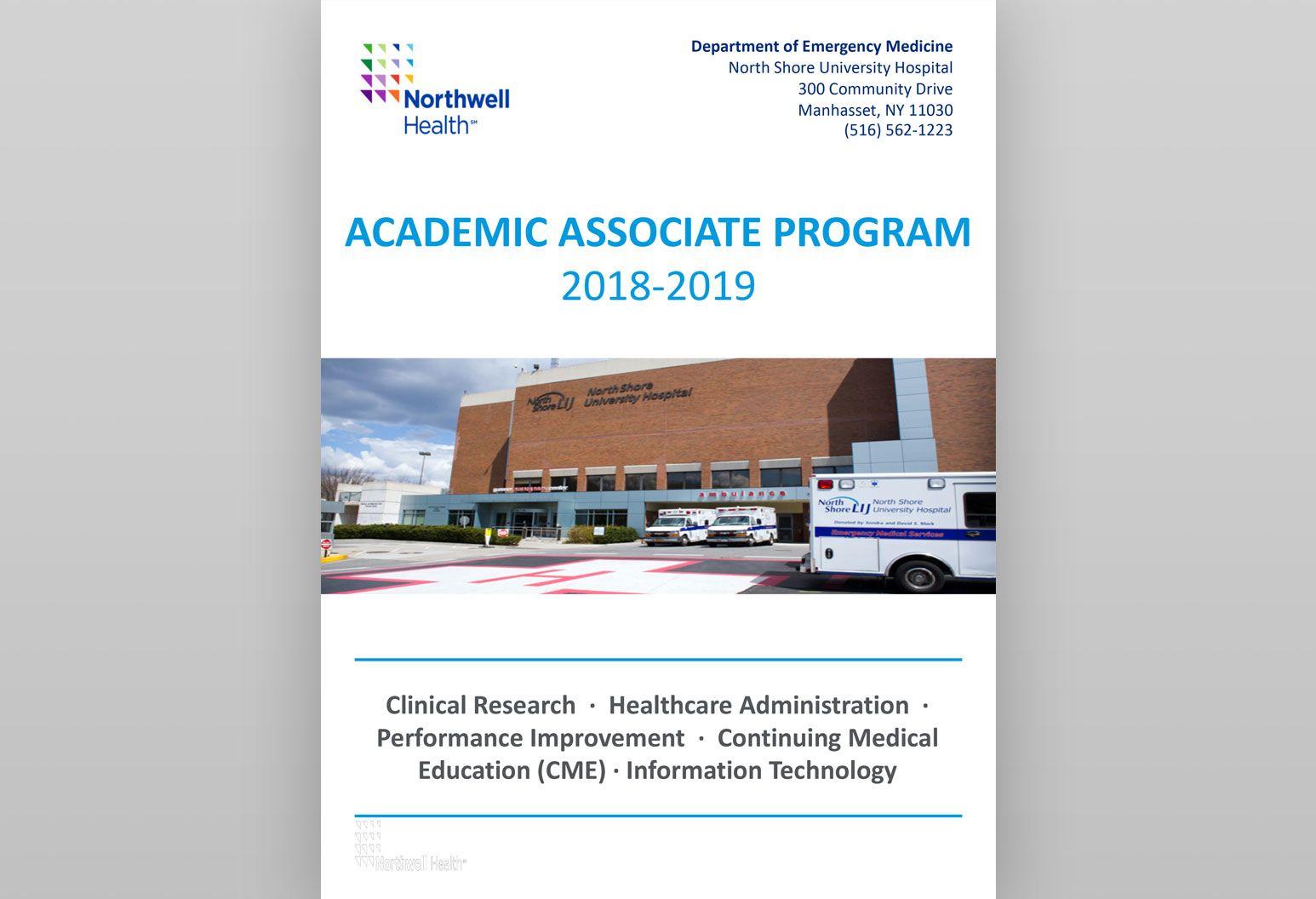 Academic Associate Program - For Professionals   Northwell