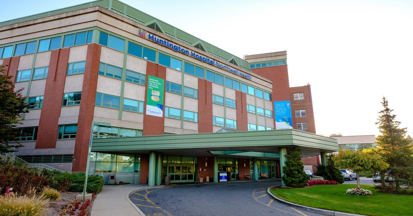 Outside Huntington Hospital