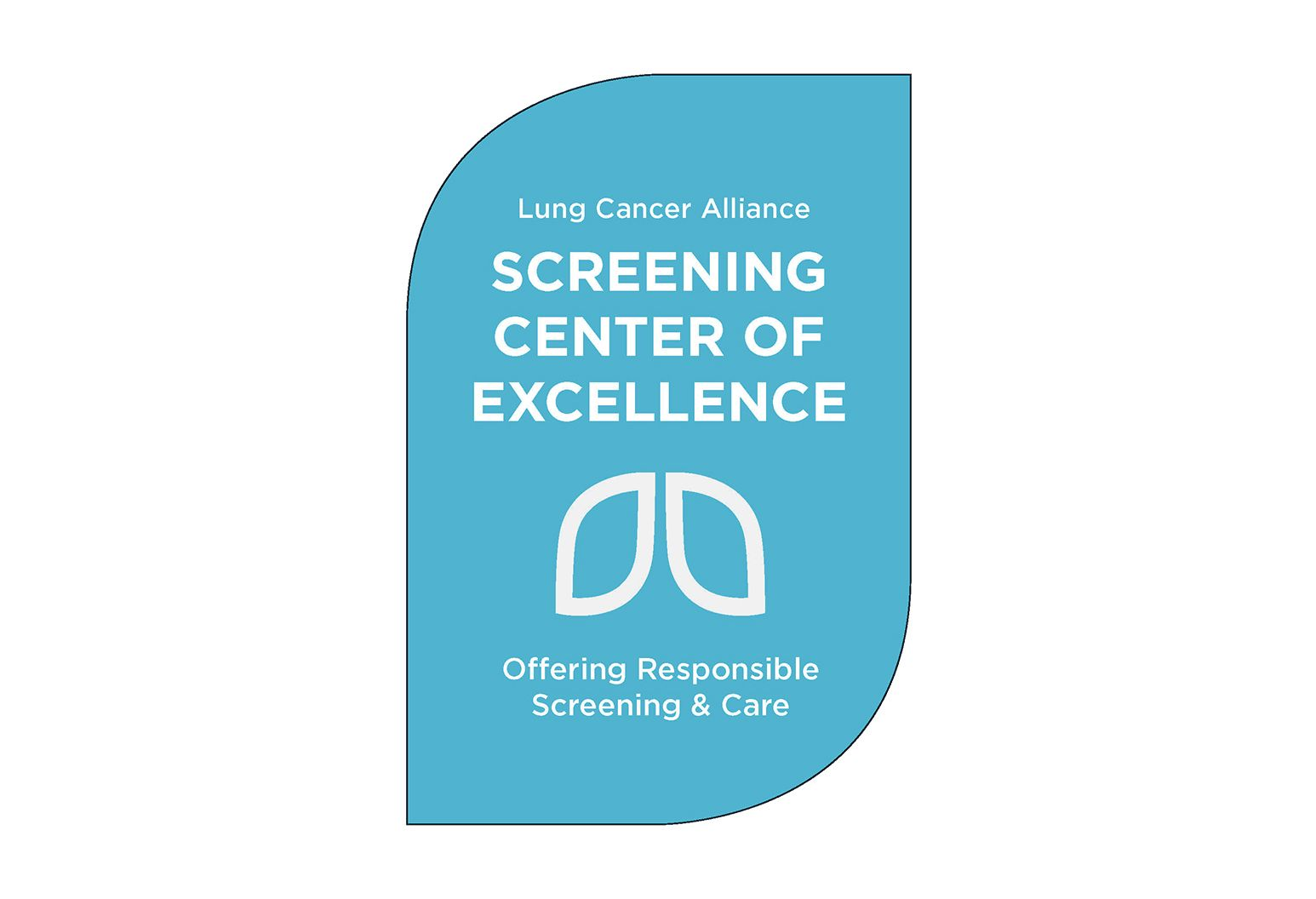 Badge for the Lung Cancer Alliance Screening Centers of Excellence