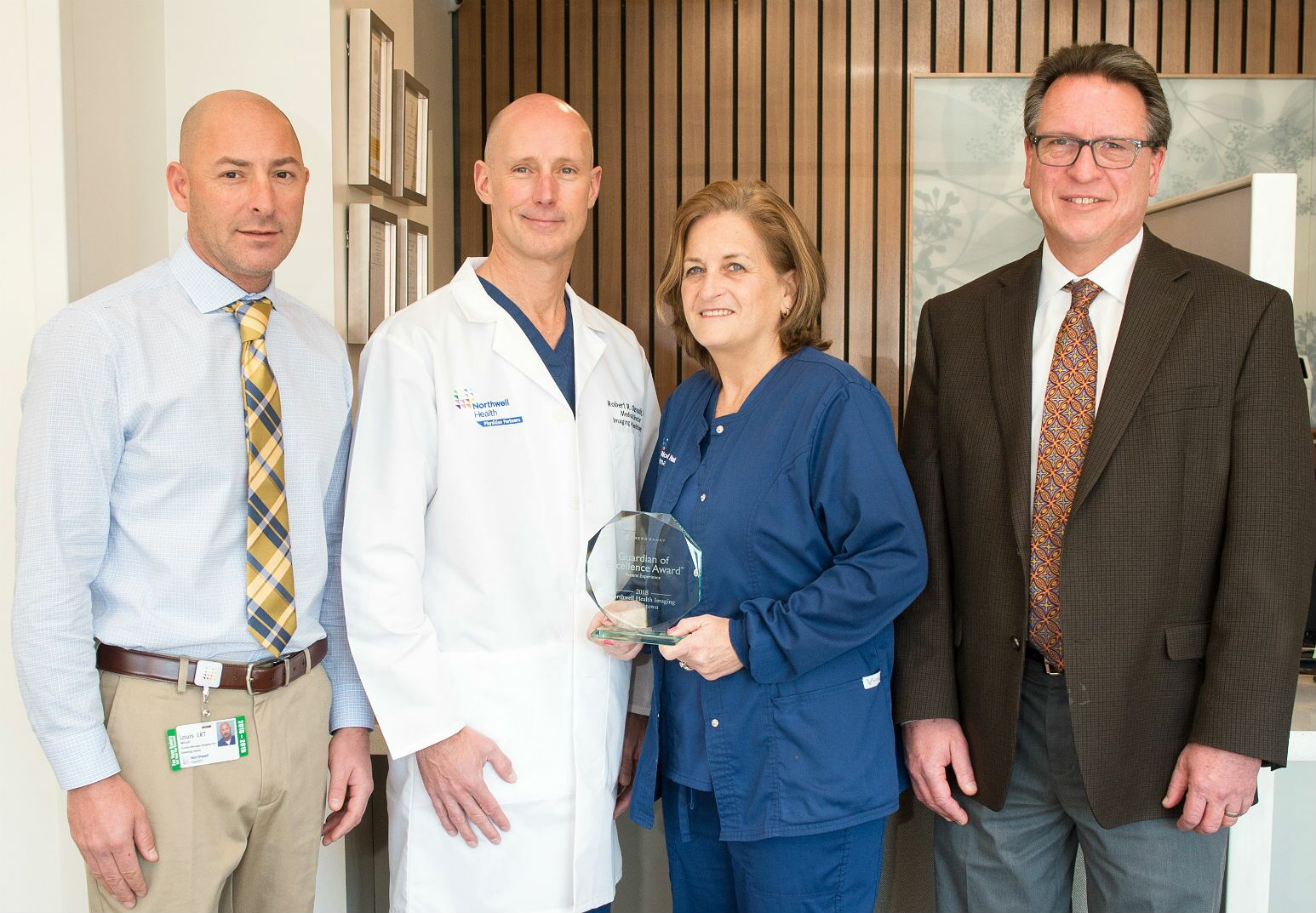 Northwell Health Imaging at Smithtown's Louis Micelli; Robert Ozsvath, MD; Lori Espina, RN; and William Brostek.