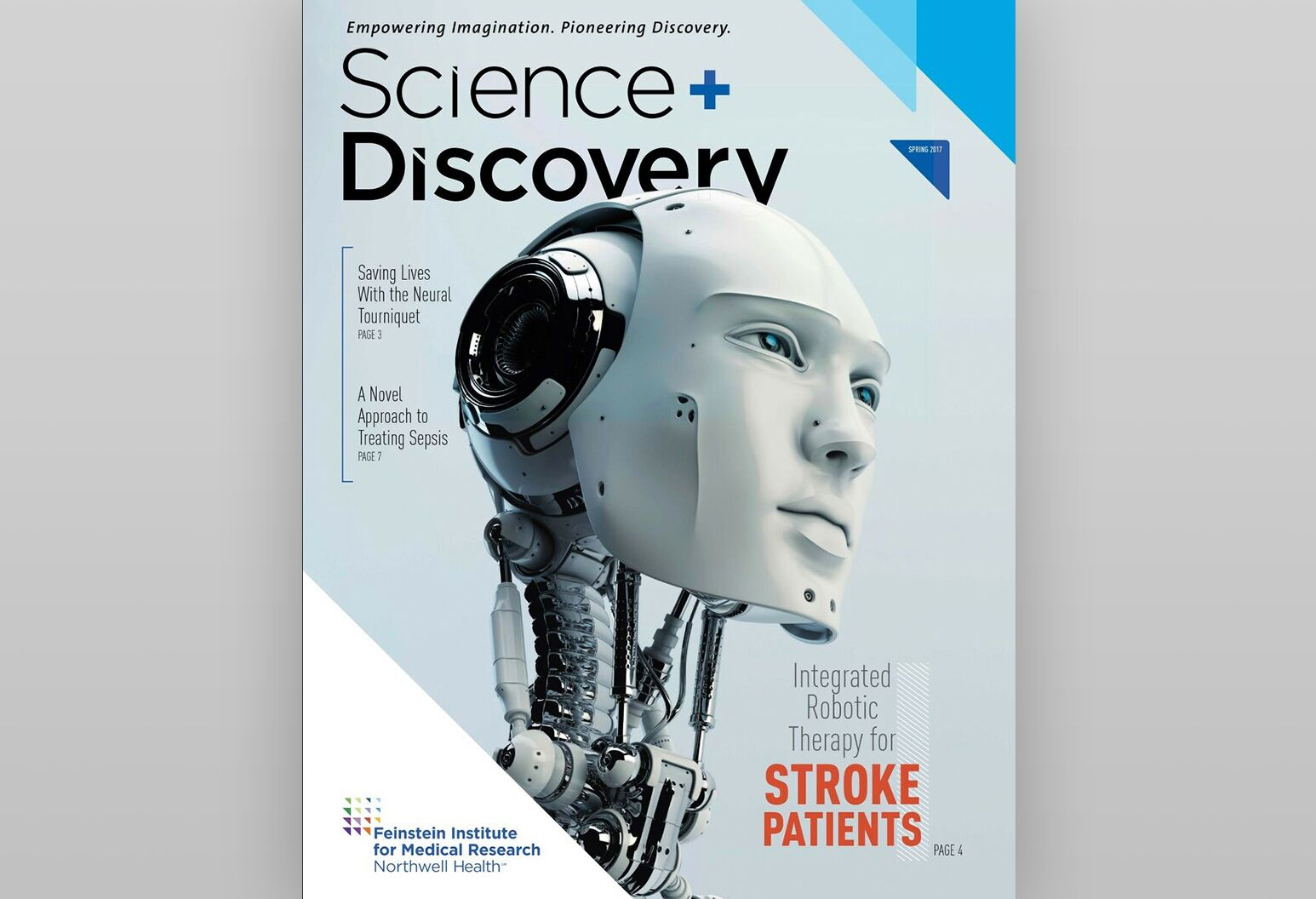 cover of the Spring 2017 Science + Discovery publication.
