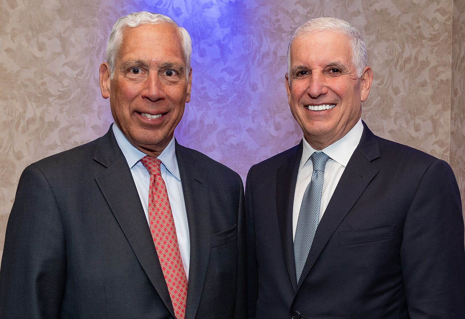 From left: Michael A. Epstein succeeds Mark L. Claster as chair of the Northwell Health Board of Trustees.