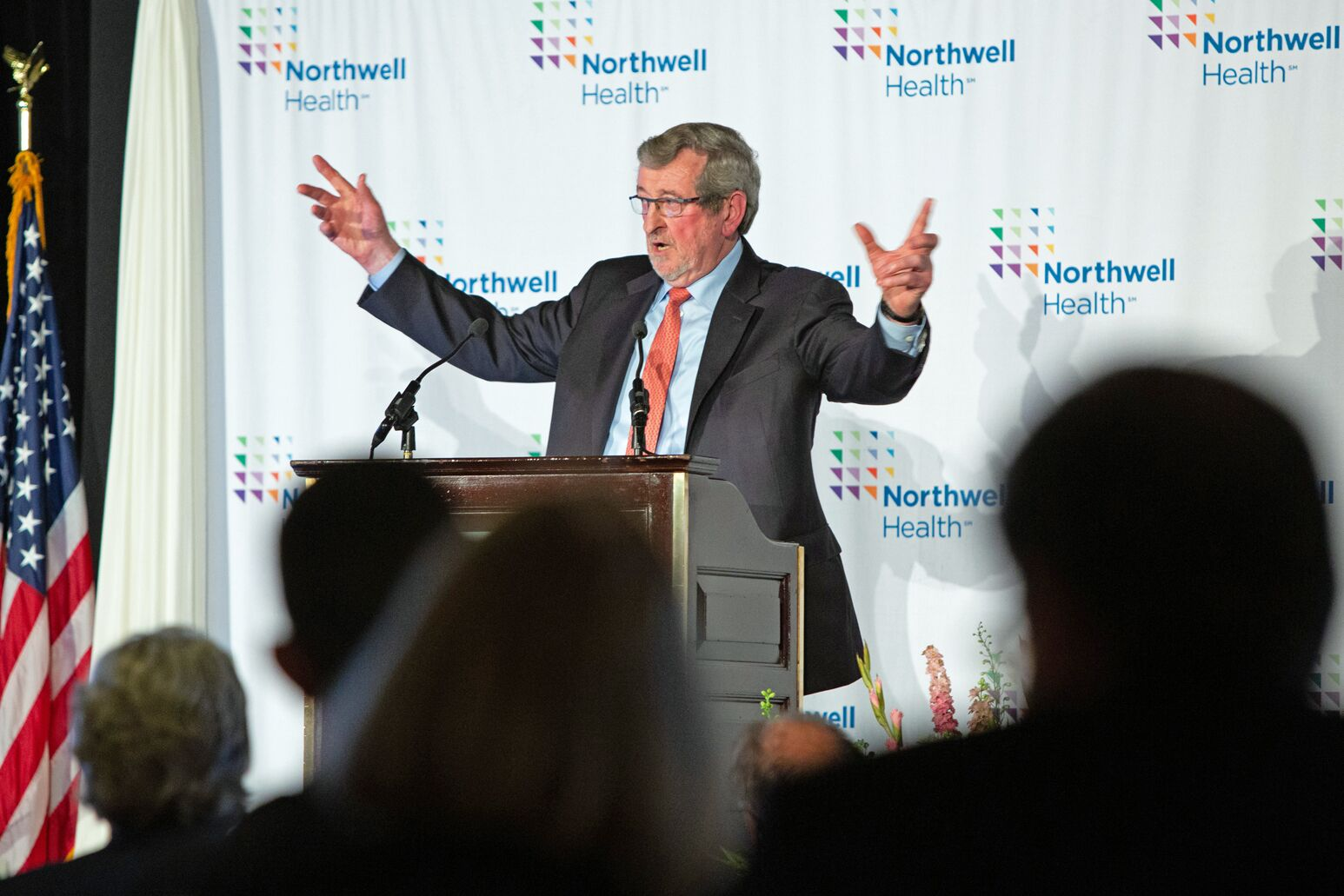 Michael Dowling speaks to trustees, overseers and administration at Northwell's Annual Meeting
