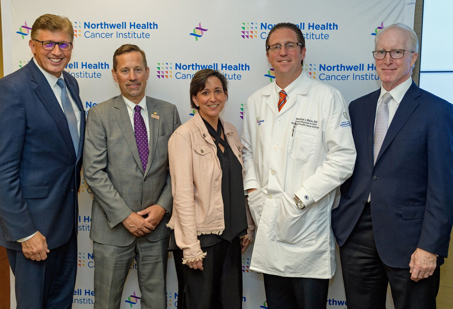 Leadership from Northwell's new Pancreatic Cancer Center and patient Toni Fabric, a 50-year-old Long Island native battling the disease.